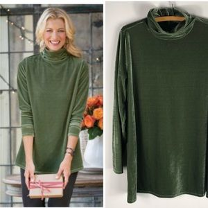 Soft Surroundings Velvet Turtleneck Tunic Top
